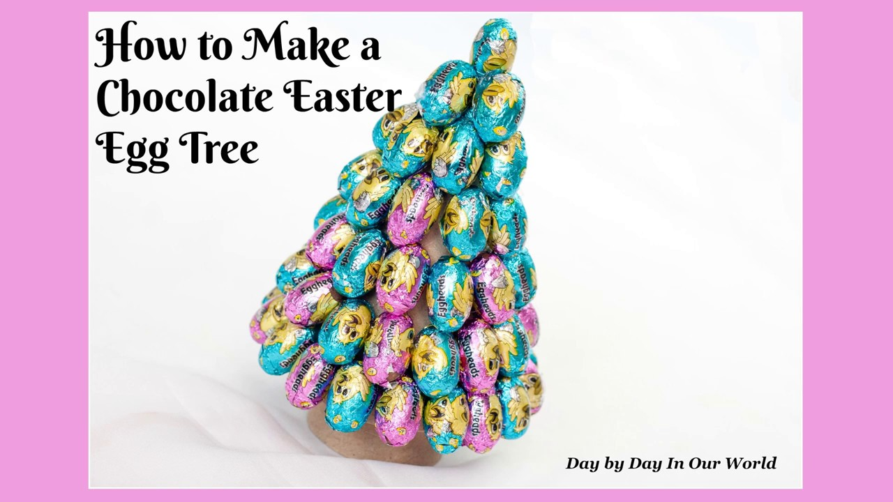 How to Make an Easter Egg Tree from Chocolate Candies - YouTube