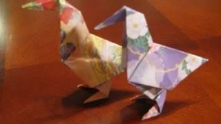 Fold a Simple Origami Bird