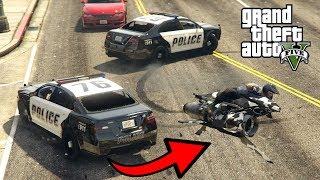 """LATAJĄCY MOTOCYKL vs 3 POLICJANTÓW! GTA 5 Online Hogaty i EKIPA """"ZABAWA NA CAŁEGO!"""" #276"""