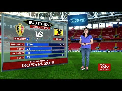FIFA World Cup Stats Zone: Match stats: Belgium vs Japan