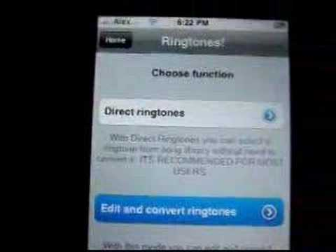 Iphone Ringtone Application- REALLY COOL
