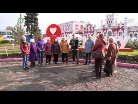 Пожилые вологжане провели музыкальный флешмоб на площадке городского проекта «7 чудес цвета»
