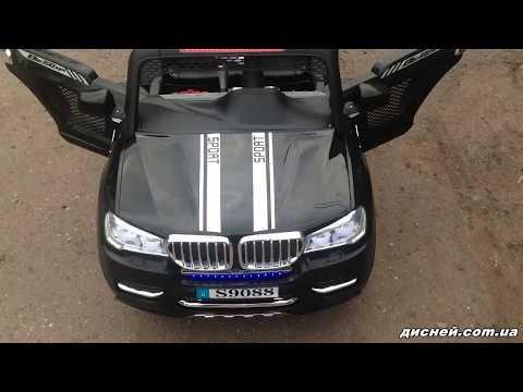 Детский электромобиль Джип M 3118 EBLR-2, кожаное сиденье, черный - дисней.com.ua