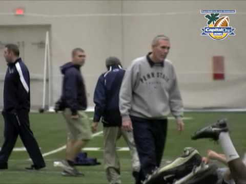 Joe Paterno Warming Up For Practice