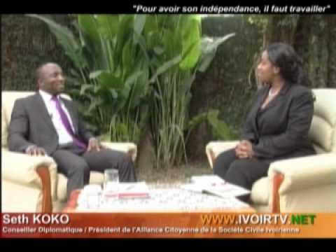 Seth KOKO lance un appel aux africains ''pour avoir son independance, il faut travailler''