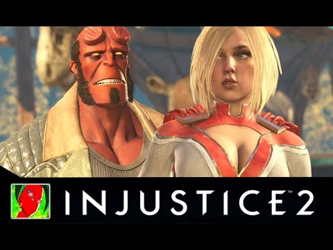 Thumbnail: Injustice 2 - Hellboy Vs Premier Skins All Intro Dialogues