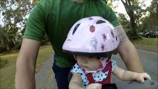 Sophie and Dads first bike ride with the WeeRide (HD)
