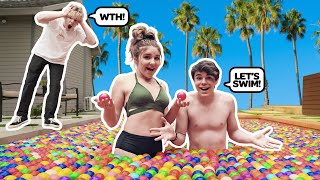 I FILLED My Best Friends SWIMMING POOL WITH 10,000 BALL PIT BALLS**CRAZY**😱😡|Jentzen Ramirez
