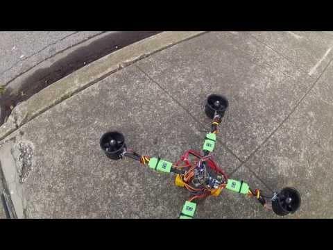 """Ducky"" EDF Quadcopter - first test flight"