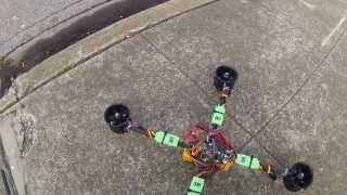 """Ducky"" EDF Quadcopter - first test flight"
