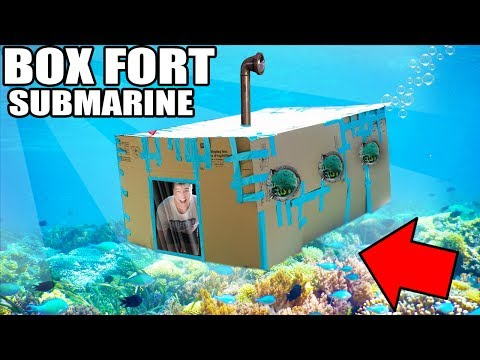 BOX FORT SUBMARINE CHALLENGE!! 📦💦