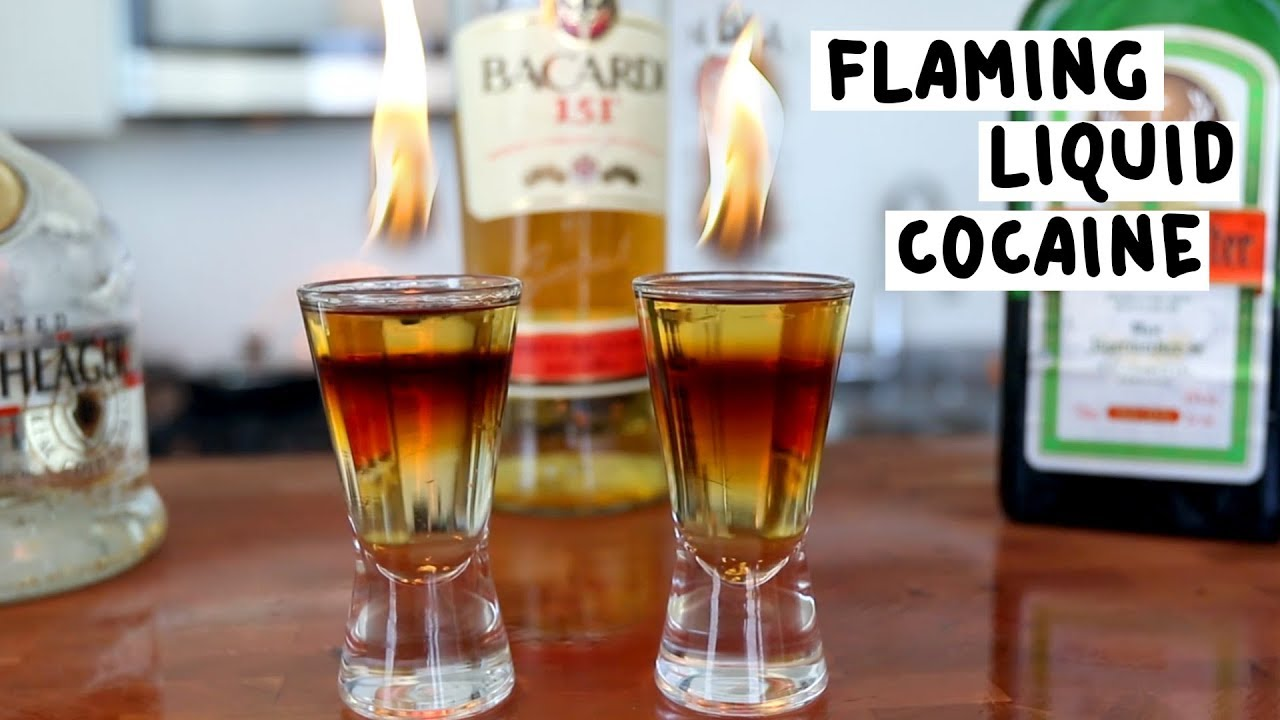 Flaming Liquid Cocaine Tipsy Bartender