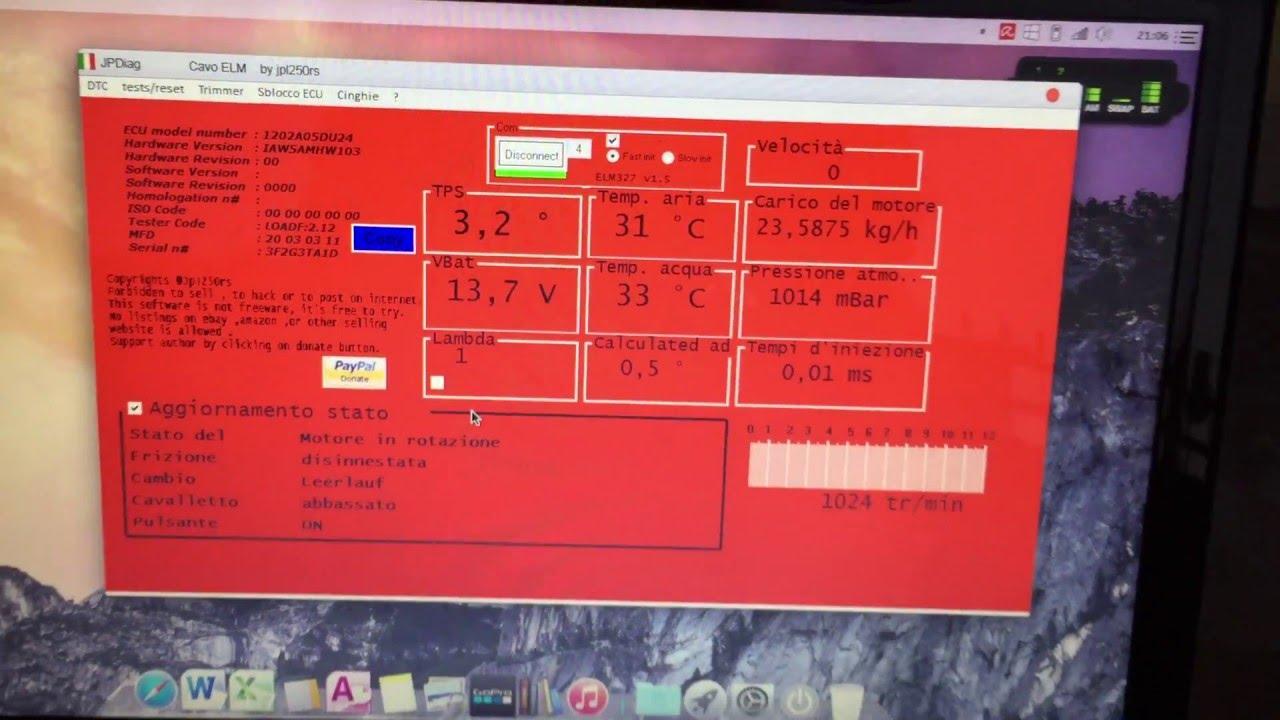 Reset Service 50 000km Ducati Multistrada con Ducatidiag