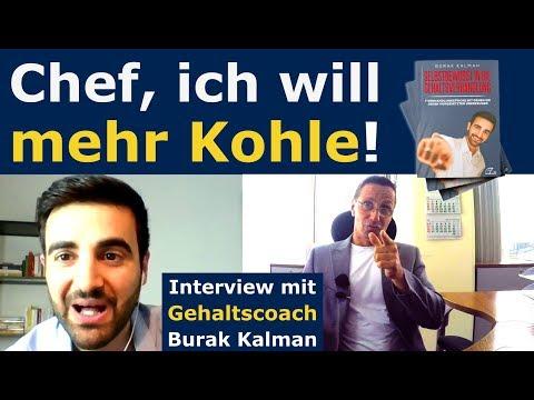 Chef, ich will mehr Kohle! Wie bekomme ich mehr Geld vom Chef? Interview Burak Kalman Marcel Meghari