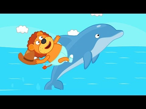Lion Family Dolphin saves a Life Cartoon for Kids