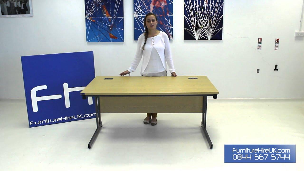 1500mm Folding Leg Straight Desk Demo - Furniture Hire UK