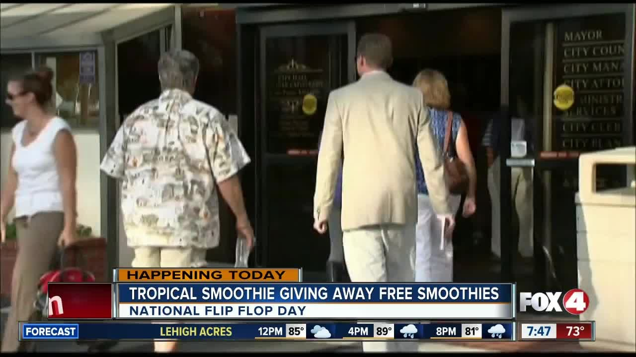 Tropical Smoothie Caf Is Giving Away Free Smoothies for National Flip Flop ...