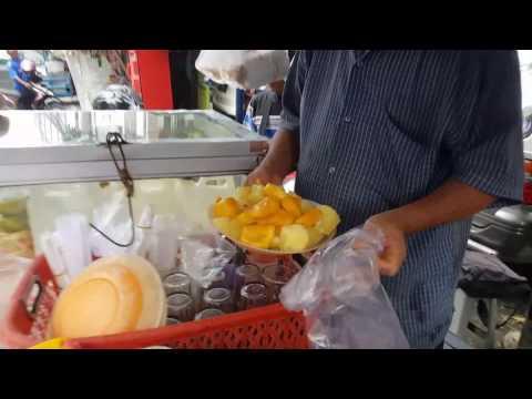 Rojak street food in Medan Indonesia