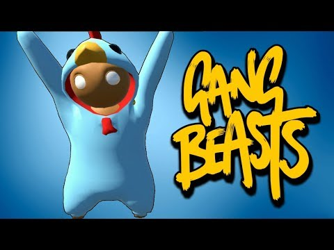 Gang Beasts Smesni Momenti - CHICKEN PILE POLETELO!!! W/ Cerix