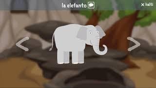 Aprender esperanto para niños - vista previa de la aplicación