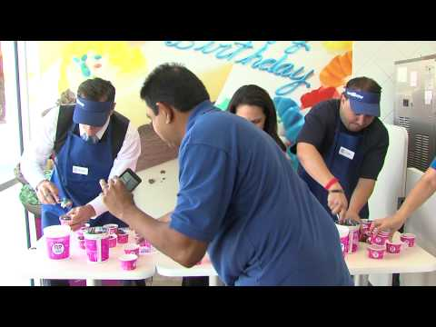 Ice Cream Scoop-Off At Baskin-Robbins