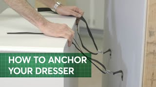 How To Anchor Furniture To Avoid Tip Overs | Consumer Reports