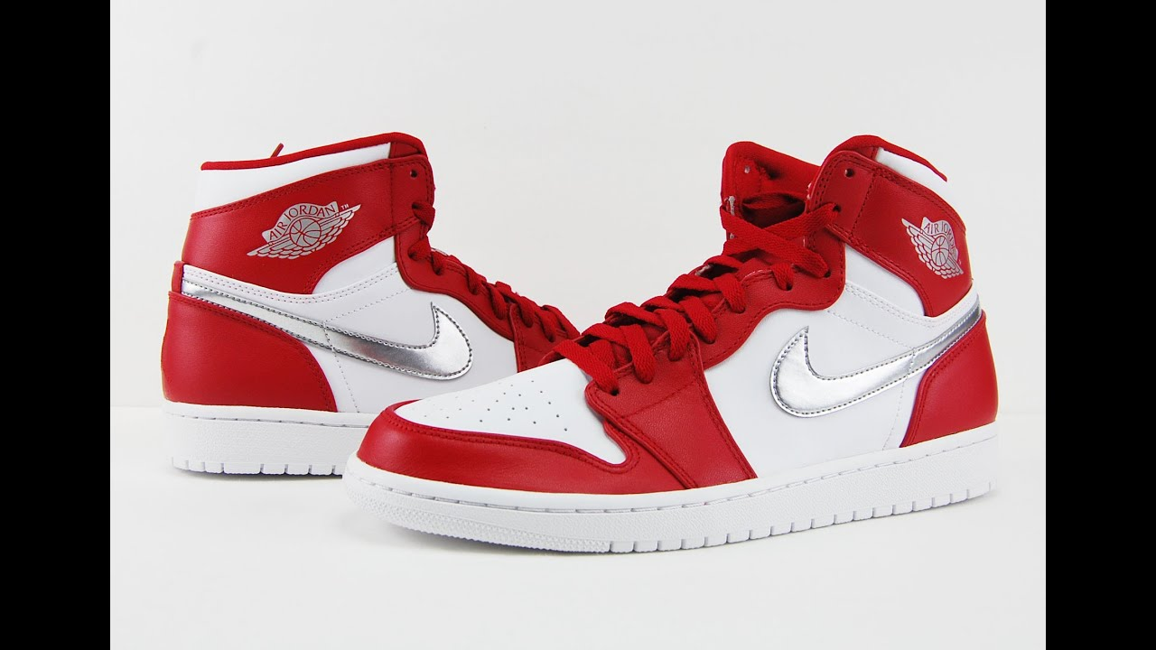 2c9963a9ddb Air Jordan 1 High Silver Medal Gym Red USA Olympics Review + On Feet ...