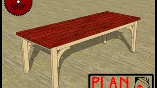 Chief's Shop Plan Of The Week: Farmhouse Dining Table