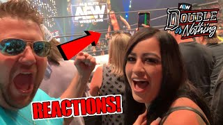 2ND ROW AEW Double Or Nothing REACTIONS! Jon Moxley (Dean Ambrose) Jumps From WWE Wrestling!