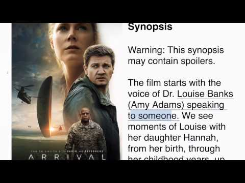 Arrival Story  Synopsis