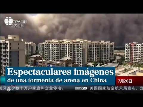 Espectaculares imágenes de una tormenta de arena en el norte de China