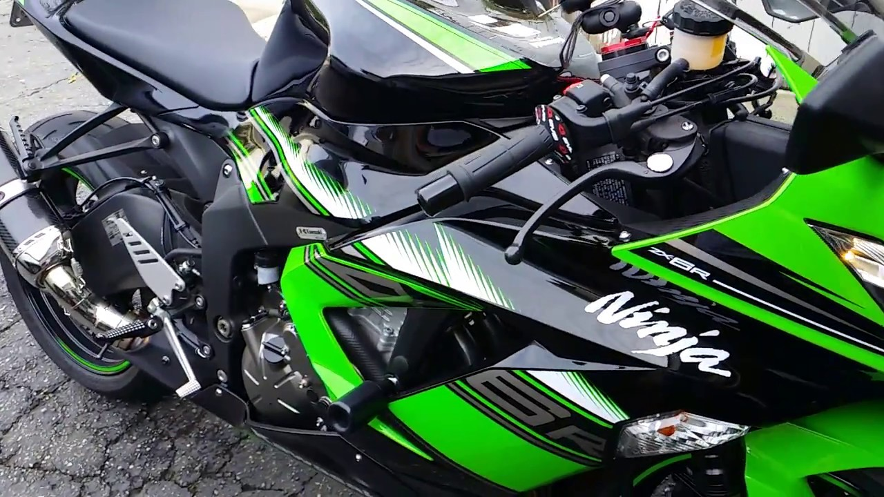 Kawasaki Ninja 2017 >> 2013-2017 Kawasaki ZX6R with Yoshimura Alpha ZX10R Exhaust Test - YouTube