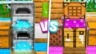 Extreme Boy vs Girl SECRET Base Battle in Minecraft!