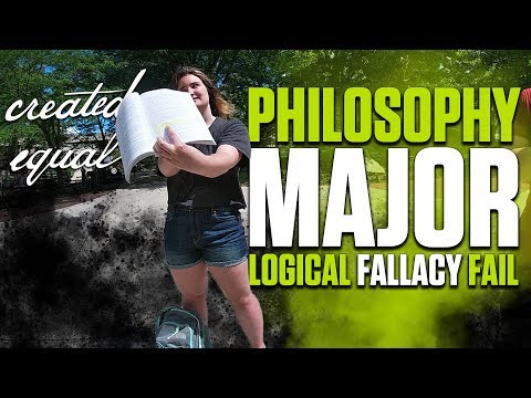 Philosophy Student Ignores Logical Fallacy: Get's Called Out