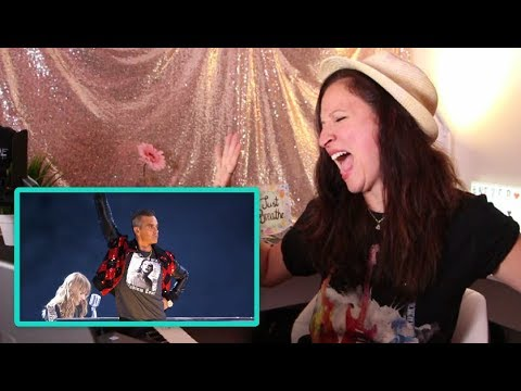 Vocal Coach REACTS to TAYLOR SWIFT and ROBBIE WILLIAMS-ANGELS