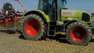 Claas Ares 816 Plowing 2009