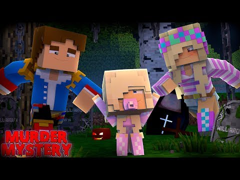 Minecraft MURDER MYSTERY - LEAH & DONNY SAVE THEIR BABY DAUGHTER!!!