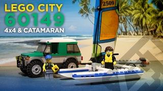 LEGO City 60149 - 4x4 & Catamaran (2017) - Stop Motion Build