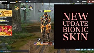 ROS Review New Update BIONIC Skin And Dino Park Game Play [ Rules of Survival ]