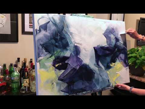 Abstract Painting Techniques using Acrylics (Timelapsed Demo