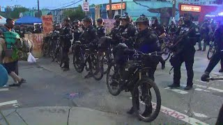 Seattle police begin making arrests in the CHOP zone