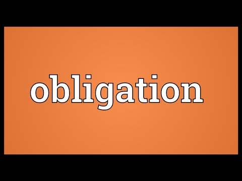 Obligation Meaning