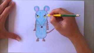 How to draw mouse with letter m | The alphabet song