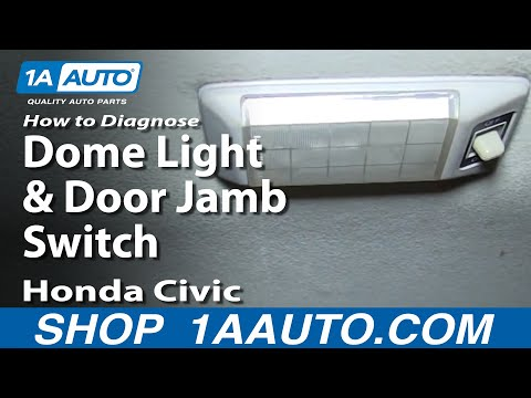 how to diagnose dome light and door jamb switch 92 00 honda civichow to diagnose dome light and door jamb switch 92 00 honda civic youtube
