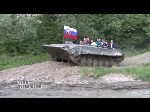 Atrakcia : Jazda tankom (BVP) - Podbieľ