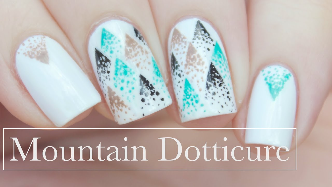 Abstract Mountain Dotticure Nail Art Youtube