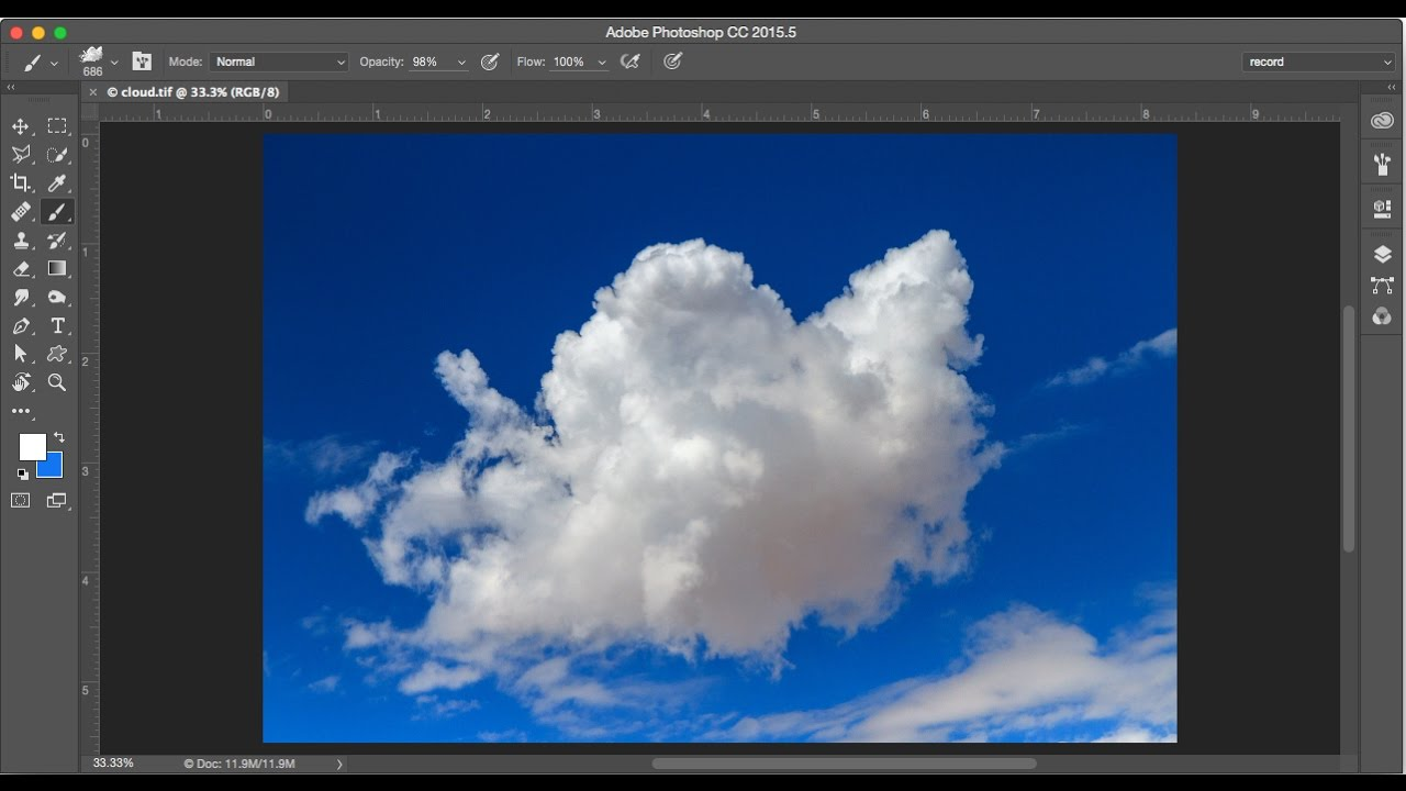 create a photoshop cloud brush