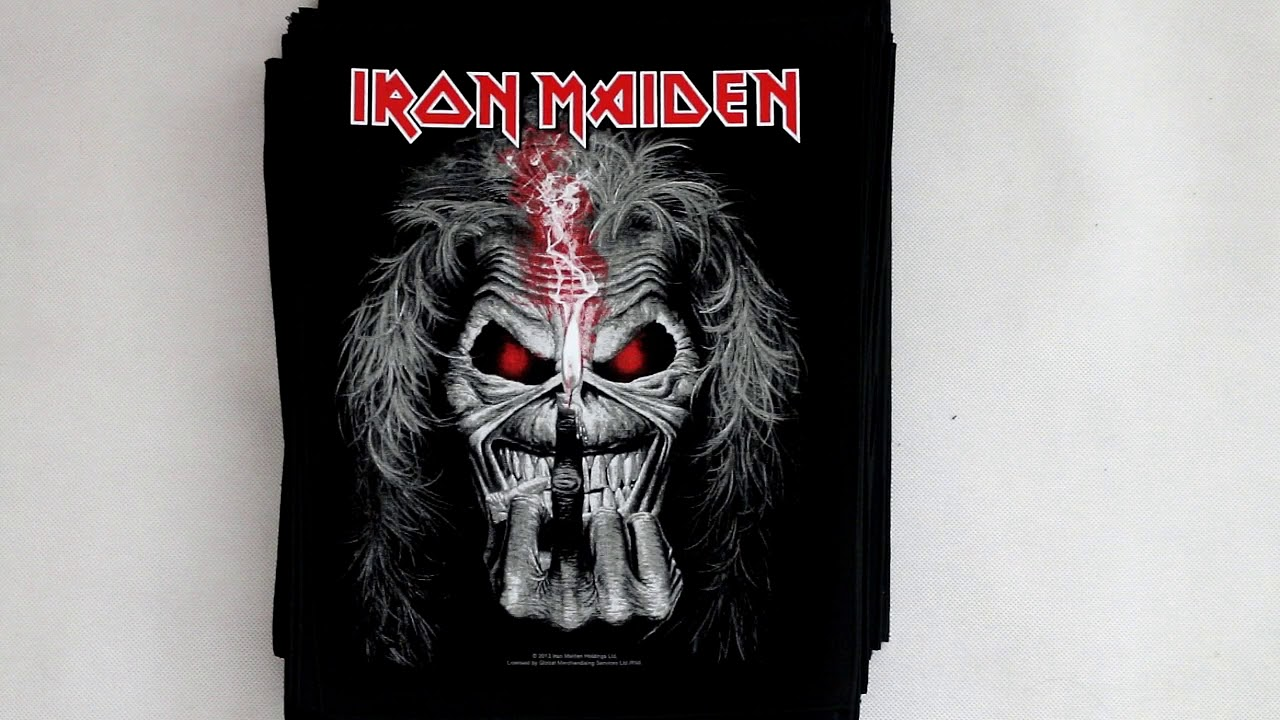 heavy metal back patches from metallica ac dc iron maiden slayer more youtube. Black Bedroom Furniture Sets. Home Design Ideas