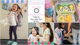 Nhật Ký Ngày Đầu Tiên Đi Học Của Donut ♥ Donut's 1st day of Kindergarten | mattalehang