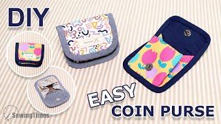 DIY EASY COIN CASE | Cute Coin Purse Tutorial - Sewing Gifts Ideas [sewingtimes]